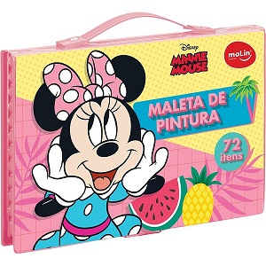 MALETA PINTURA MOLIN MINNIE 72PC 22335