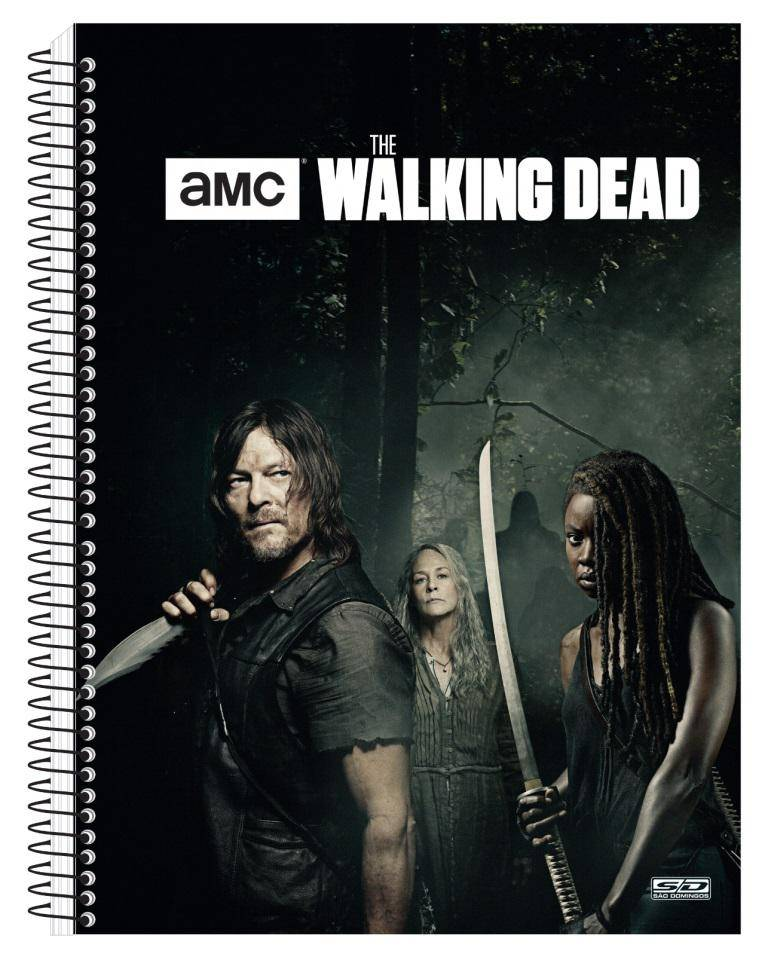 Caderno Universitario  1 Materia  96 Folhas The Walking Dead São Domingos